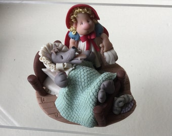 Little Red Riding Hood & the Big Bad Wolf Figurine (BL)