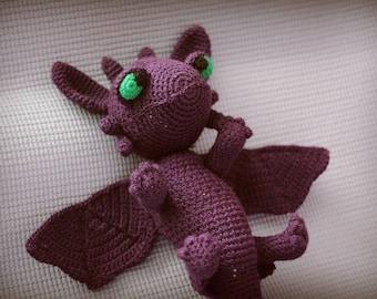 Train your dragon Toothless Plush crochet toy Dragon toy Soft toy dragon Crochet dragon Night fury Dragon Crochet stuffed toy Child gift