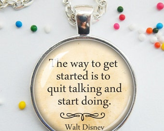 DISCONTINUED! quote pendant, inspiring, motivational, word pendant, quote jewelry, stop dreaming and start doing