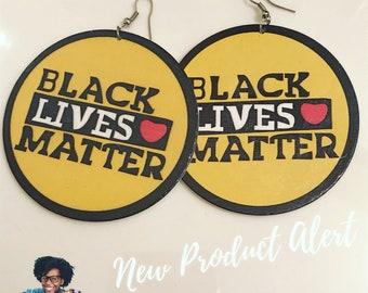 Circular Black Lives Matter YELLOW