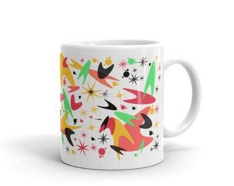 Boomerang mug, retro inspired mug, colorful mug, coffee mug, mothers day mug, gift for bride, gift for mom, bridesmaid gift