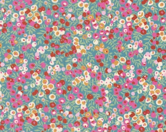 """Liberty Tana Lawn WILTSHIRE - 17"""" wide x 13"""" (43cm x 33cm) - Limited Edition - pink, turquoise"""