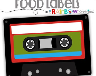 776 Food Labels: Run ABC Candy or Buffet Labels-Instant Downloadable File