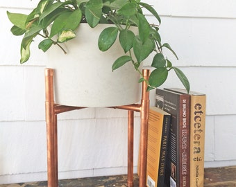 Plant Stand | Plant Stand | Modern Plant Stand | Indoor Plant Stand | Plant Stand Indoors | Copper Pipe | Plants