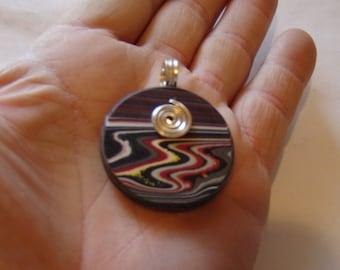 FORDITE pre-1985 automotive paint drips pendant necklace !!