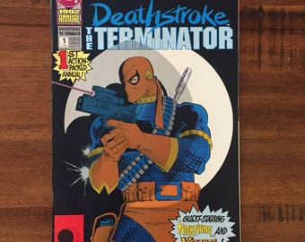 1992 Deathstroke The Terminator Annual #1/ DC Comics/ NM-VF/ J