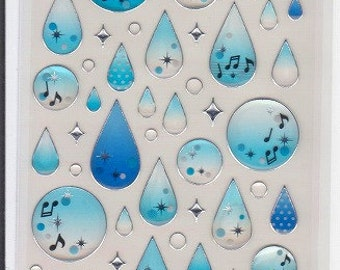 Raindrop Stickers - Mind Wave Stickers - Reference F1511F1607F2758