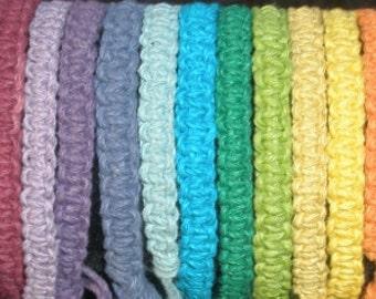 Hemp Bracelet Hemp Friendship Bracelet Men Women Guys Ladies eco friendly stacking bracelet You Choose Favorite Color