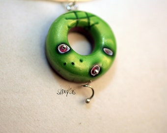 CLEARANCE*****Polymer Clay Air Pendant - WEARABLE ART!!