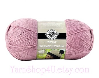 ROSE Woolike Loops and Threads Yarn. 85% Acrylic / 15 Nylon. A Super Fine Fingering Weight, Sock yarn is smooth and soft. 3.5oz 678 yd <