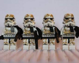 Fantasy Star Wars Clone Storm Sand StormTrooper Mini Figures Fit Lego The Last Jedi