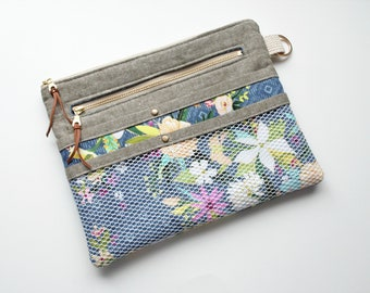Travel Organizer, Clutch, Bag, Pouch, Floral, Gifts for Her, Purse