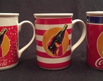 Coca Cola tall ceramic mugs