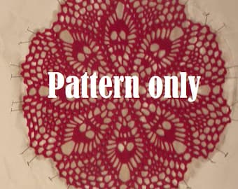 Doily Pattern - Skull Doily Pattern  - PDF Doily PATTERN only