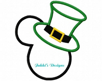 Instant Download Mouse Ears with Hat Embroidery Machine Applique Design-518