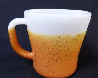 Vintage Federal Glass Company Glamalite Mug Rubberized Sparkle Coated