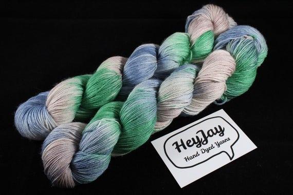 SALE ITEM 4ply Hand Dyed Yarn Superwash Merino Peace