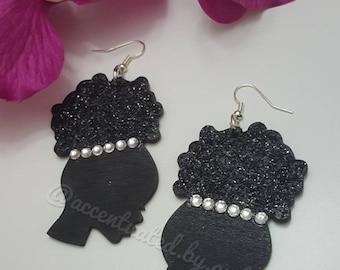 Dazzling Afro Puff Earrings