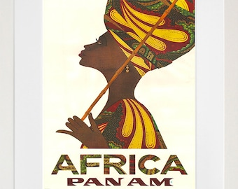 Africa Art Vintage Travel Poster Print Home African Wall Decor (XR239)