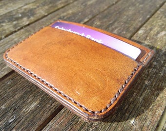 Microwallet. Slimline handmade leather wallet. minimalist. mens. womens