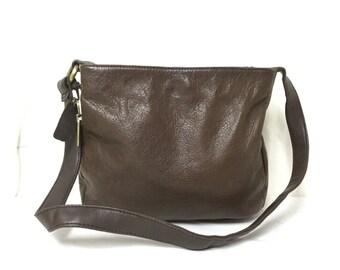 Rolfs leather purse, bag,brownLeather, Shoulder Bag,Brown leather Purse