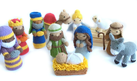 Crochet Nativity Pattern Amigurumi Nativity Pattern Christmas