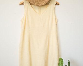 Vintage lemon midi dress