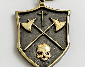 Lawbringer brass keychain - For Honor game