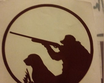 duck hunter with lab decal