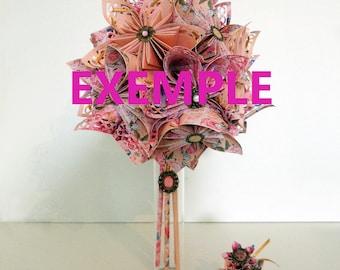 Vintage wedding flower bouquet + accessories
