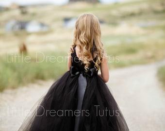 The Juliet Dress in Black - Flower Girl Tutu Dress