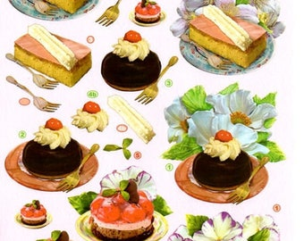 1 x sheet for decoupage 3D PASTRIES (2430)