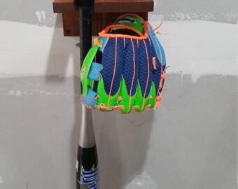 Baseball Bat, Baseball, and Glove Holder