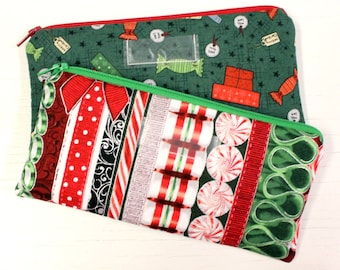 Christmas Cash Envelope - Cash Budget System - 1 Cash Budget Envelope with Zipper Closure - Ready to Ship