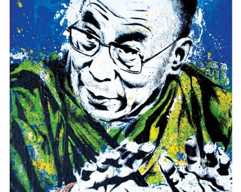 Dalai Lama-My Religion is Kindness -12 x 18 High Quality  Pop Art Print