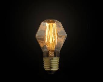 E27 Hexagon Edison Bulb - edison bulb - e27 - 110V & 220V - vintage bare light - industrial pendant light - antique bulb