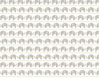 Boy Elephants in Gray  - 1 yard -  by Riley Blake Designs.