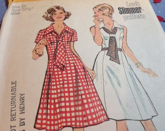 Vintage Simplicity Pattern 5679, Vintage Dress Pattern, Size 10 Pattern, 70's Dress Pattern, Uncut Pattern