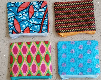 Wax print coin purses/ African purses/African coin purses/small purses