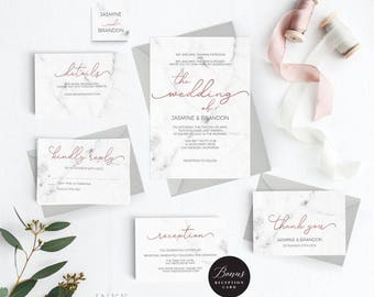 Wedding Invitation Template Etsy - Cheap wedding invitation templates