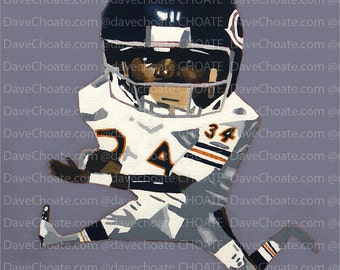 Walter Payton, Chicago Bears.ART Print from Original Painting