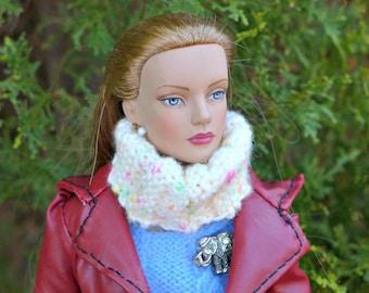 Doll Cowl/Knitted Neckwarmer scarf  for 16 inch /Tonner Tyler Wentworth Sydney Gene Ellowyne  BJD Art Doll clothes
