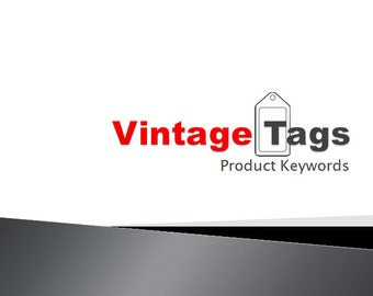 Vintage Tags Product Keywords SEO View Booster