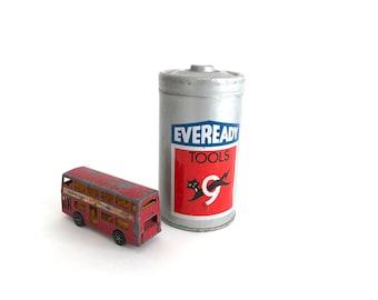 Eveready Tool Tin - Vintage Battery Tin - Advertising Tin - Display Tin - Display - Collectible - Battery Tin - Tool Collectible