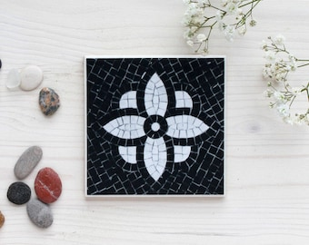 "Ceramic Tile Drink Coaster, Hygge Inspired Coaster ""Lysfest"", Wedding Favor, Gift"