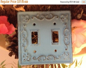 ON SALE, SPRING Sale Light Switchplates/ Shabby Chic Plates/ SwitchPlates/ Cast Iron SwitchPlates - Set of Two