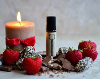 CHOCOLATE OBSESSION Perfume Oil - Natural Perfume - 10 ml Perfume Roll On - Natural Fragrance - Travel Perfume - Vegan Perfume/ Gift for Mom