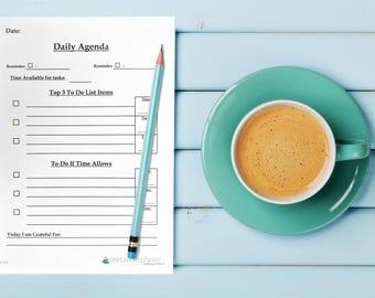 Printable Daily Agenda /To Do List