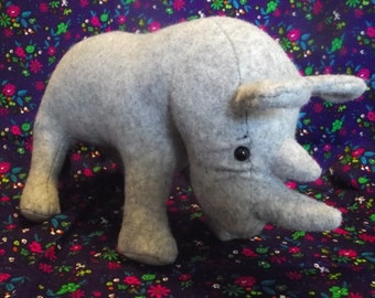 Rhinoceros Rhino Stuffed Animal Pattern to Sew...Paper Pattern Special Price