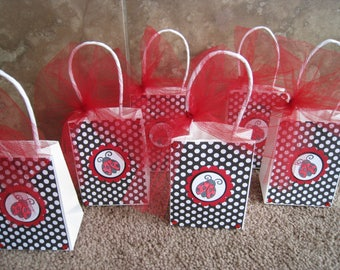 Ladybug Party Favor Sized Bags - Set of Six